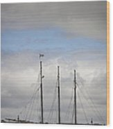 Alliance Charter Schooner Wood Print by Teresa Mucha
