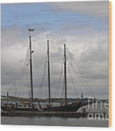 Alliance Schooner Wood Print by Teresa Mucha