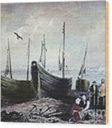 Allonby - Fishing Village 1840s Wood Print