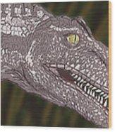 Allosaurus Wood Print