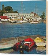 Alls Quiet In The Harbor Wood Print