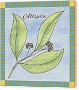 Allspice Illustration Wood Print