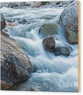 Alluvial Fan Falls On Roaring River Inrocky Mountain National Park Wood Print