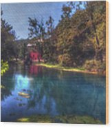 Ally Springs Mill  The Fall Wood Print