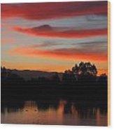 Almaden Sunset Wood Print