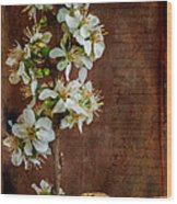 Almond Blossom Wood Print by Marco Oliveira