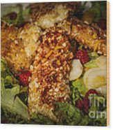 Almond Encrusted Chicken Salad 2 Wood Print