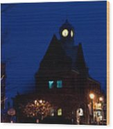 Almonte Ontario At Night Wood Print