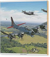 Almost Home  B-17 Flying Fortress Wood Print