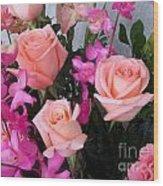 Almost Pink Flowers Wood Print