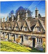 Almshouses Wood Print