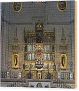 Almudena Cathedral Altar Wood Print