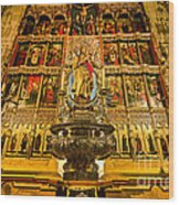 Almudena Cathedral Wood Print