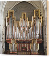 Almudena Cathedral Organ Wood Print