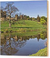 Alnwick Castle Panorama Wood Print