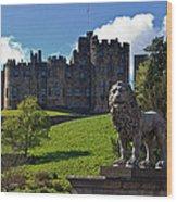 Alnwick Lion Wood Print