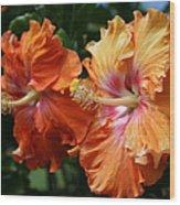 Aloha Keanae Tropical Hibiscus Wood Print