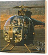 Aloha  Oh-6 Cayuse Light Observation   Helicopter Lz Oasis Vietnam 1968 Wood Print