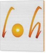 alOha on white Wood Print
