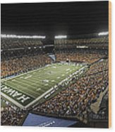Aloha Stadium Night Game Wood Print