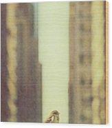 Alone In A Big City Wood Print