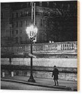 Alone In Paris Wood Print