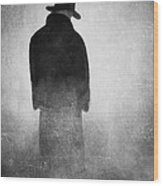 Alone In The Fog 2 Wood Print by Gun Legler