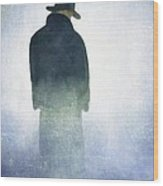 Alone In The Fog Wood Print by Gun Legler