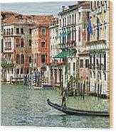Alone In Venice Wood Print
