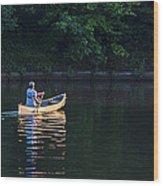 Alone On The Lake Wood Print