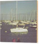 Along The Bay Wood Print