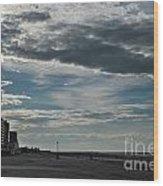 Along The Beach Wood Print
