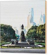 Along The Benjamin Franklin Parkway In Philadelphia Wood Print
