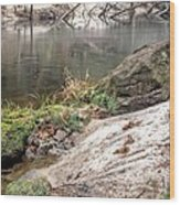 Along The Black Water River Wood Print