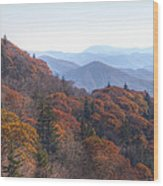 Along The Blue Ridge Parkway  N C Wood Print