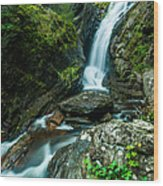 Waterfall - Along The Borderlands Wood Print