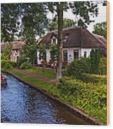 Along The Canal. Giethoorn. Netherland Wood Print