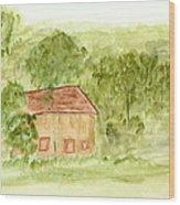 Along The Midi Canal Wood Print