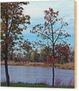 Along The Platte Wood Print