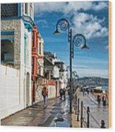 Along The Promenade - Lyme Regis Wood Print