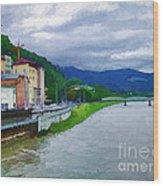 Along The Rhine Wood Print