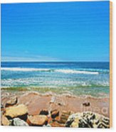 Along The Rincon California Surf Spot From The Book My Ocean Wood Print