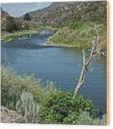 Along The Rio Grande River Wood Print
