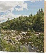 Along The River Wood Print