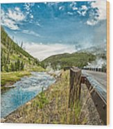 Along The Volcanic Yellowstone Road Wood Print
