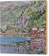 Along_the_coast_of_norway Wood Print