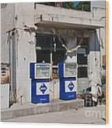 Alonissos Petrol Station Wood Print