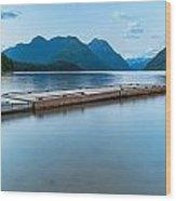 Alouette Lake Dock Wood Print
