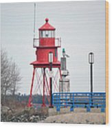 Alpena Lighthouse Wood Print