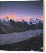 Alpenglow Lights The Summit Of Mt Wood Print